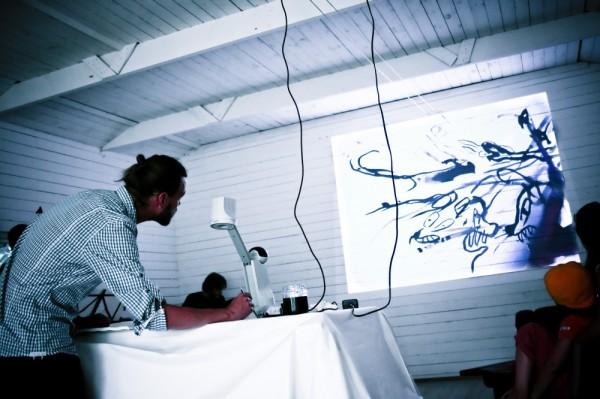 With Aleksi Ranta Trio in Mustasaari Art Gallery, Oulu 2010. Photo: Joni Kesti