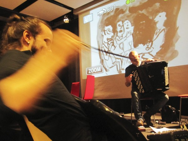 Rehearsing in Stockholm